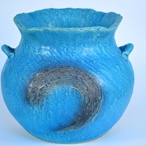 DSC_0349.jpg      信樂燒花瓶-水藍