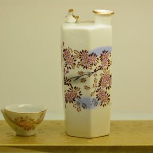 日本清酒壺杯組