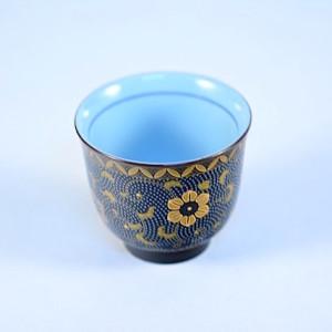 DSC_2463.jpg  黑釉金富貴高腳杯- SH0006A