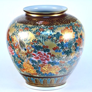DSC_2540.jpg 九谷燒10號花瓶-本金花鳥 N22-1047