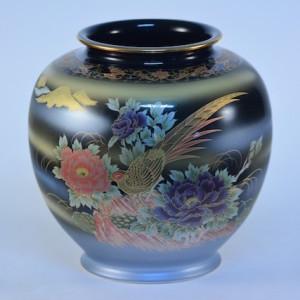 DSC_2656 九谷燒9號花瓶-金稚鳥 N27-03A